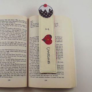 personalised 'i love christmas' bookmark by cherish handmade