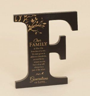 Family Tree Roots Large Architectural Alphabet Letter F for Table or Wall   Prints