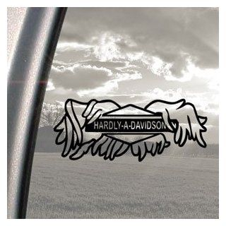 Hardly A Davidson Black Decal Car Truck Window Sticker   Automotive Decals