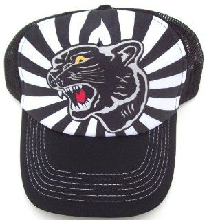 Black Panther Trucker Hat Baseball Cap Has Plastic Adjustable Snap Back: Toys & Games