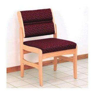 Guest Chair W/ Arms   Light Oak/Burgundy Leaf Pattern Fabric : Reception Room Chairs : Office Products