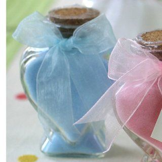 Scented Bath Salts In Heart Glass Bottle   Blue  Bath Minerals And Salts  Beauty