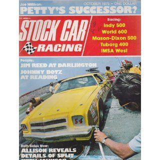 OCT 1975 STOCK CAR RACING magazine JOHNNY BOTZ Richard Benyo Books