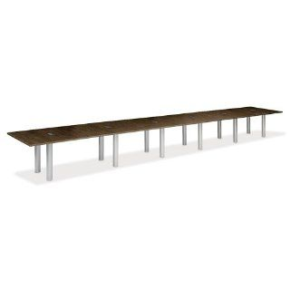 24' W Conference Table with Data Ports by NBF Signature Series  Office Environment Tables