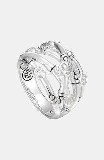 John Hardy 'Batu Bamboo' Woven Silver Ring: Jewelry