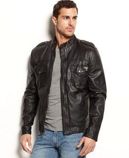 Lucky Brands Jeans Scrambler Moto Jacket   Coats & Jackets   Men