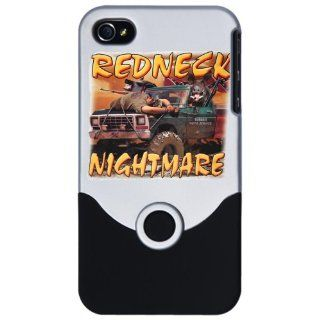 iPhone 4 or 4S Slider Case Silver Redneck Nightmare Rebel Confederate Flag: Everything Else