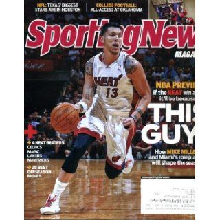Sporting News October 25 2010 Mike Miller/Miami Heat on Cover, NBA Preview, Oklahoma Sooners Football, Ray Rice/Baltimore Ravens Sporting News Magazine Books