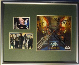 Signed Korn Autographed the Paradigm Shift Cd Framed & Matted Display W/pics: Entertainment Collectibles