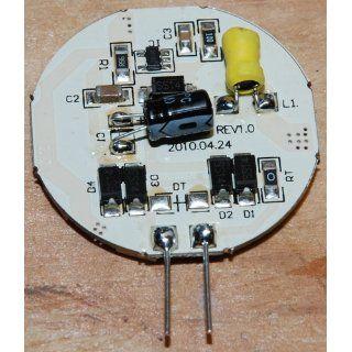 LEDwholesalers Disc Type G4 Base Side Pin 15 SMD LED, 10 Watt Holagen 197 Lumen Bulb Replacemnt For RV Camper Trailer Boat Marine Warm White, 1114WW Automotive