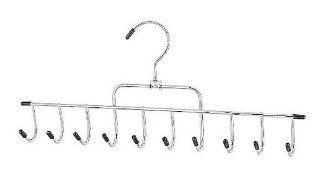 Whitmor 6021 189 Ebony Chrome 10 Hook Accessory Hanger   Standard Hangers