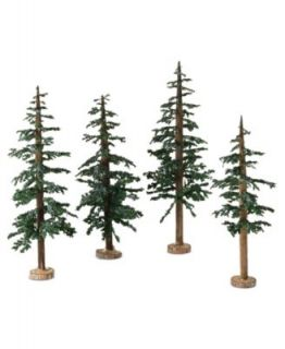 Department 56 Set of 10 Bag O Frosted Topiaries   Holiday Lane