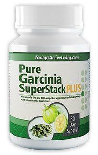NEW Weight Loss Pill, Diet Pill, and Appetite Suppressant: Pure Garcinia Super Stack PLUS   Pure Garcinia Cambogia Extract and Green Coffee Bean Extract Combined! Certified HCA and GCA, Burn Fat Fast! (1 Bottle (1 MONTH SUPPLY)): Health & Personal Care