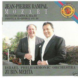 Jean Pierre Rampal: Mozart Flute Concertos K.313 &314 Andante, K.315. Rondo, K. Anh.184: Mozart, Zubin Mehta, Israel Philharmonic Orchestra, Jean Pierre Rampal: Music