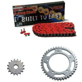 2006 2010 Suzuki GSXR 750 Red O Ring Chain and Sprocket Kit: Automotive