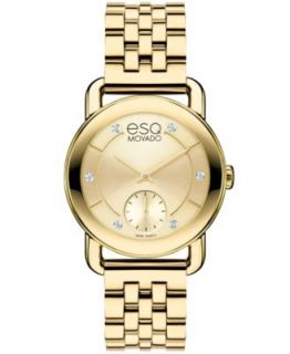 ESQ Movado Watch, Womens Swiss Origin Gold Ion Plated Stainless Steel Bracelet 36mm 07101408   Watches   Jewelry & Watches