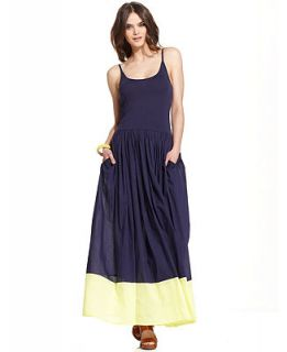 French Connection Dress, Marionette Sleeveless Scoop Neck Colorblocked Maxi   Dresses   Women