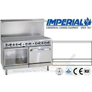"""Imperial Commercial Restaurant Range 60"""" Griddle W/ Convection Oven/Cabinet Natural Gas Ir G60 Xb Industrial & Scientific"""