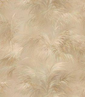 Brewster 149 17657 Palm Fern Gold Textures Pattern Wallpaper