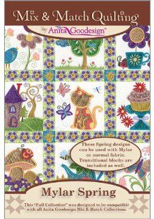 Anita Goodesign   Mylar Spring ~ Mix and Match Quilting ~ Embroidery Designs