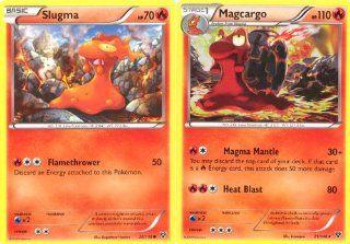 Magcargo and Slugma   Rare Pokemon Card Evolution Set (XY #20/146 and #21/146): Toys & Games