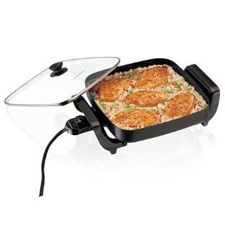 Hamilton Beach 38525 144 Sq. In. Nonstick Electric Skillet : Electric Frying Pans Nonstick With Lids : Everything Else