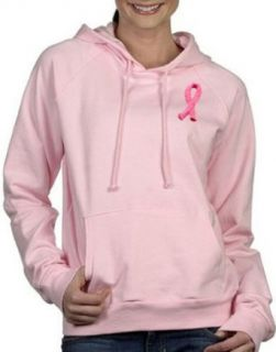 Breast Cancer Awareness Ribbon Ladies Hoody Sweatshirt   Pink: Clothing