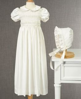 Cherish The Moment Baby Gown, Baby Girls Smocked Christening Gown and Bonnet   Kids
