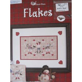 "Just Nan ""Flakes"" Cross Stitch Pattern (JN141): Nan Caldera: Books"