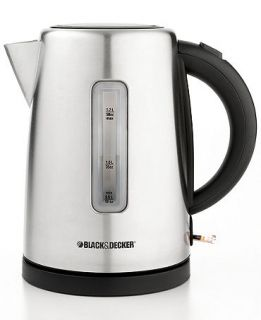 Black & Decker KE2000 Electric Kettle, 1.7 L Stainless Steel   Coffee, Tea & Espresso   Kitchen