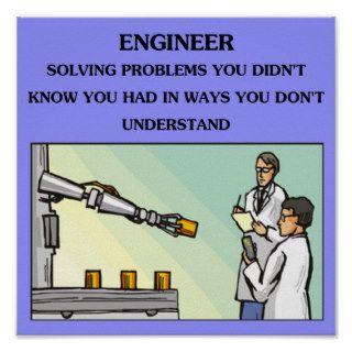 engineer engineering joke posters