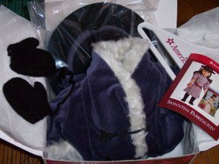 """American Girl Samantha's Blue Velvet Holiday Coat, Hat and mittens for 18"""" Dolls   DOLL IS NOT INCLUDED Toys & Games"""