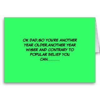 Funny old dog new tricks Father's Day Greeting Card