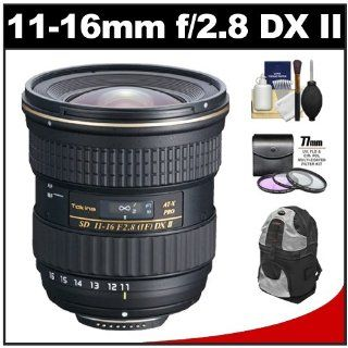 Tokina 11 16mm f/2.8 AT X116 Pro DX II Digital Zoom Lens with 3 UV/FLD/CPL Filters + Backpack + Accessory Kit for Canon EOS 7D, 60D, Rebel T4i, T3i T3, T2i Digital SLR Camera  Camera Lenses  Camera & Photo