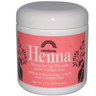Rainbow Research, Henna, 100% Hair Color and Conditioner, Persian Strawberry, (Light Golden Red), 4 oz (113 g) : Beauty