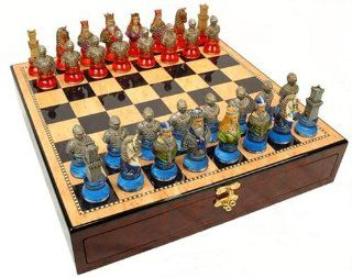 Medieval Times In Clear Base Chess Set, King:3 1/2 inch: Toys & Games