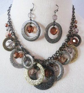 Premier Designs Jewelry BOTTEGA Necklace + Earrings SET RV$78: Kitchen & Dining