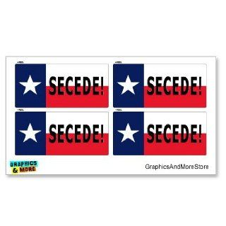 Texas Flag Secede   Anti Obama Nobama   Set of 4   Window Bumper Locker Stickers: Automotive
