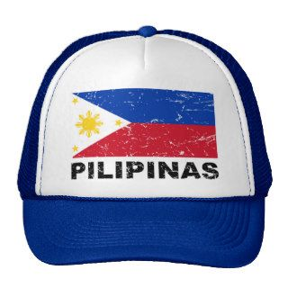 Philippines Flag Vintage Trucker Hats