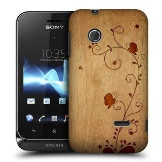 Head Case Designs Swirl Wood Art Hard Back Case Cover For Sony Xperia tipo ST21i: Cell Phones & Accessories
