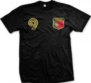 Portugal Crest International Retro Soccer Mens T shirt, Portuguese National Pride Mens Shirt Clothing