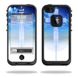 MightySkins Protective Vinyl Skin Decal Cover for LifeProof iPhone 5 Case 1301 fre Sticker Skins Cross: Cell Phones & Accessories