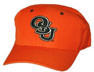 Oklahoma State Cowboys Black Letters Zephyr DH Fitted Cap   6 7/8 Clothing