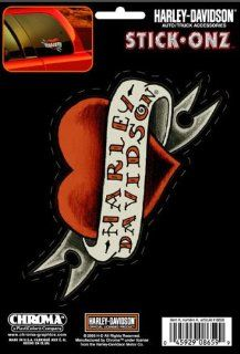 Harley Davidson Heart Tattoo/ Banner Stick Onz Decal: Automotive