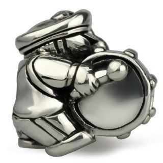 Authentic Ohm Sterling Bass Drum Marching Band Bead for European Charm Bracelet: Jewelry