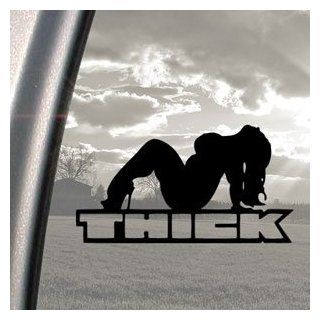 THICK CHICK Black Decal Car Truck Bumper Window Sticker Automotive