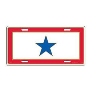 "Family Member, Blue Star Service (6""x12"") License Plate Automotive"