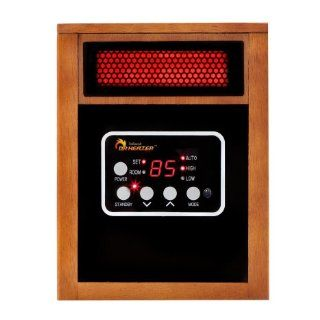 Dr Infrared Heater Quartz + PTC Infrared Portable Space Heater   1500 Watt, UL Listed, Produces 60% More Heat with Advanced Dual Heating System.