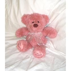 Huggables Pink Teddy Stuffed Toy Latch Hook Kit 14 Tall