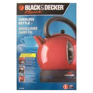 Black & Decker Red Cordeless Electric Kettle 57 1/2 Ounce: Electric Kettles: Kitchen & Dining